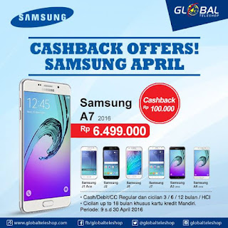 Samsung A dan J Series Cashback di Global Teleshop