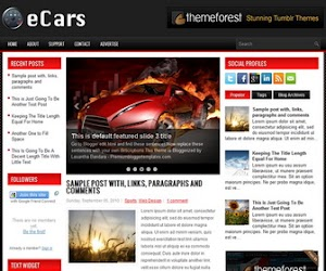eCars 3 Column Blogger Template