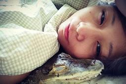 Pelihara Buaya, Sashimi Bahkan Rela Tidur dengan Peliharaannya