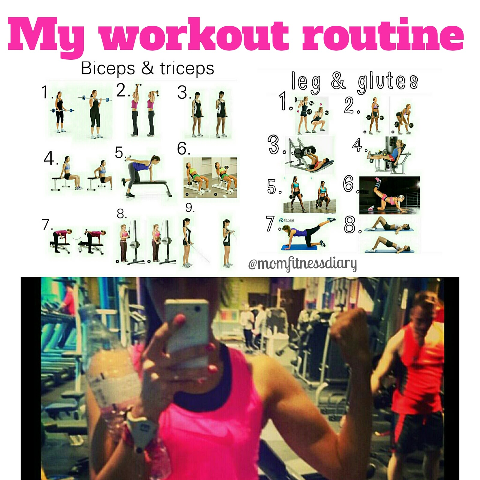 Mom Fitness Diary: My Gym Workout Routine