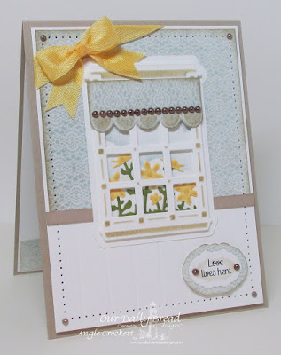 Our Daily Bread Designs Stamp sets: Home Sweet Home, Our Daily Bread Designs Custom Dies: Welcoming Windows, Window Shutter and  Awning, Flower Box Fillers, Vintage Labels, Our Daily Bread Designs Blushing Rose Paper Collection