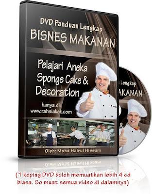 DVD Panduan Belajar Bisnes Makanan: Kek HariJadi dan kek continental style hotel