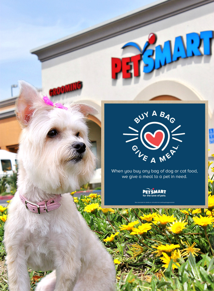 Buy A Bag, Give A Meal™ when you buy a bag of dog or cat food at PetSmart March 1, 2017- December 31, 2017. #ForTheLoveOfPets #Sponsored