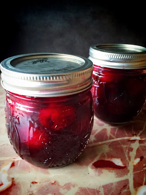 morsels & sauces: Cherries in Red Wine Syrup