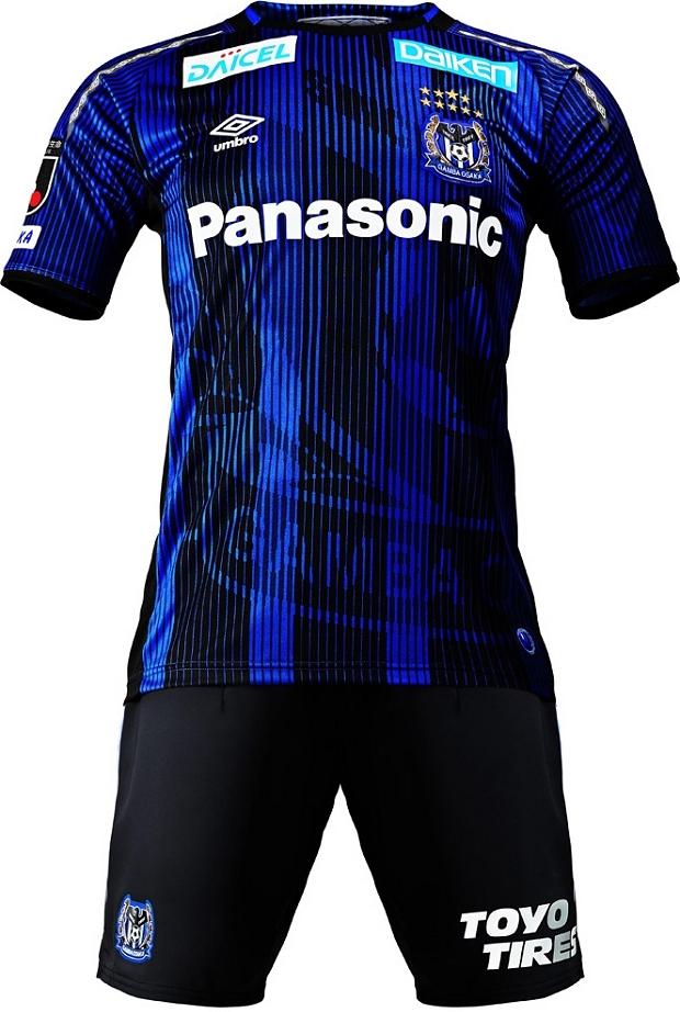 A Umbro divulgou os novos uniformes que o Gamba Osaka usará no Campeonato  Japonês de futebol ( J League ) em 2019. 5251e460a364a