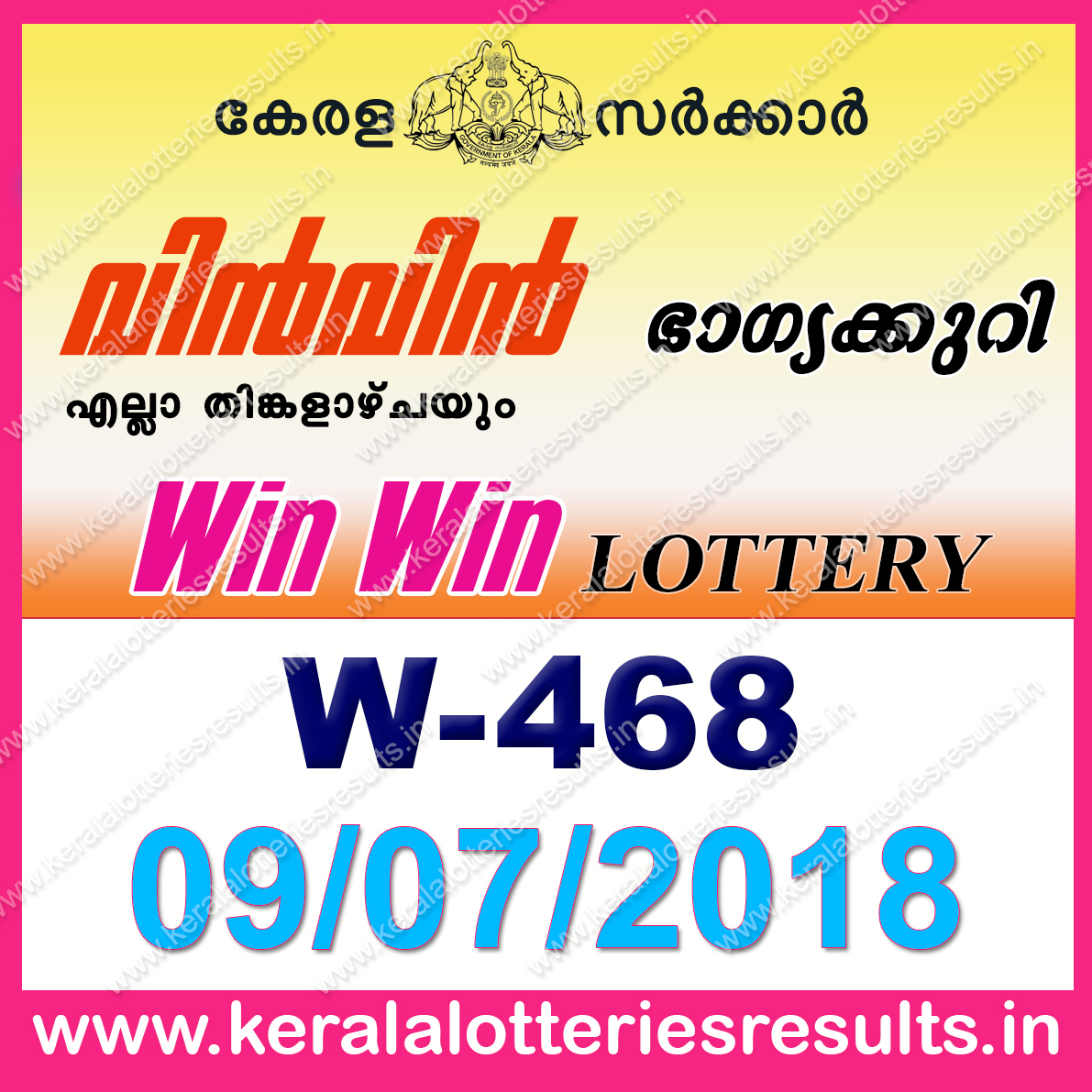 Kerala lottery results tomorrow is monday