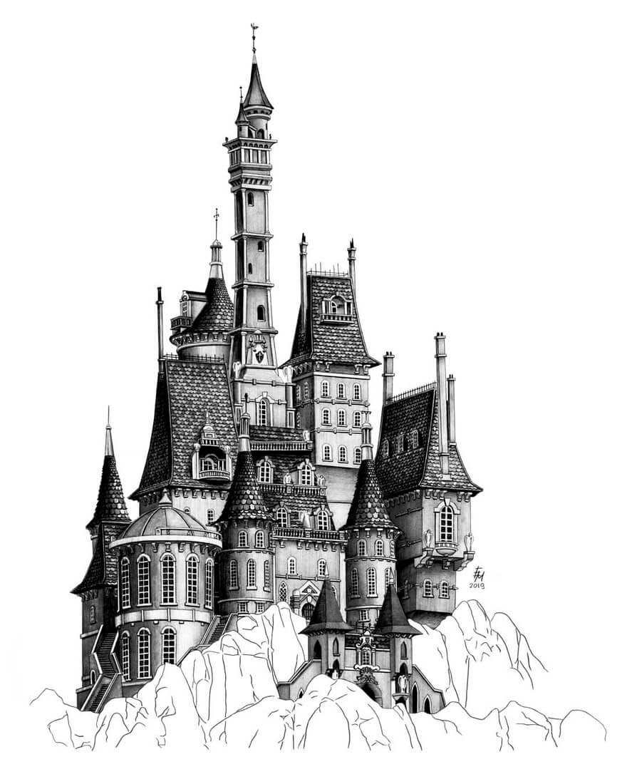 10-Castle-Elizabeth-Detailed-Pencil-Architectural-Drawings-www-designstack-co