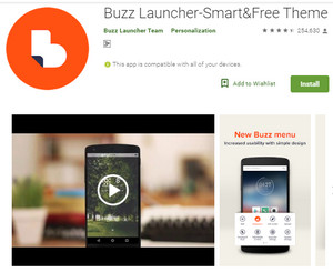 Buzz Launcher Android Phone