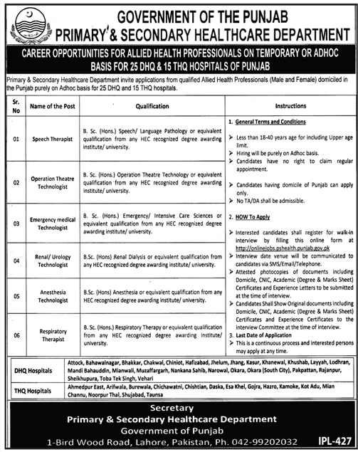 jobs in primary and secondary health care department,jobs in health department,primary & secondary health care department,primary secondary health care department,health department jobs 2018,punjab government jobs,jobs in punjab health care department,jobs in govt.of punjab primary & secondary department,primary and secondary healthcare department jobs,primary and secondary healthcare