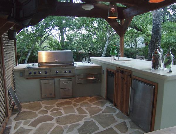 Gambar Desain Dapur dan Ruang Makan Terbuka Outdoor ...