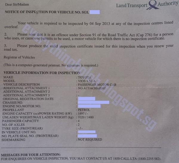 Everything Boleh!: LTA Vehicle Inspection Procedure at STA