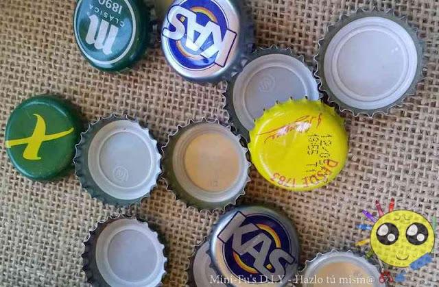 Chapas de botellas de refresco para manualidades