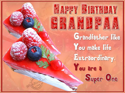 Happy Birthday wishes for grandfather: happy birthday grandfather you are a super one