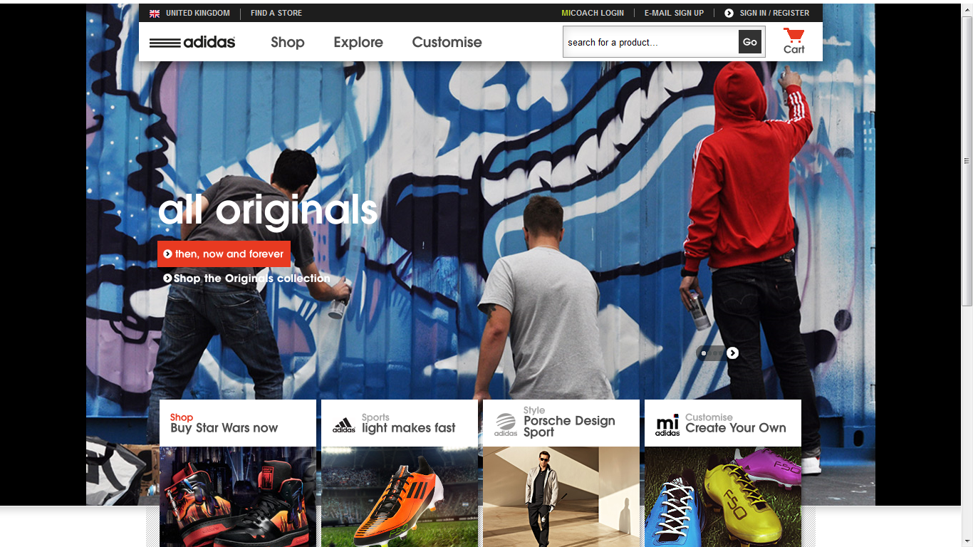 official new arrive discount shop ZEN: Competitor Adidas shots from site