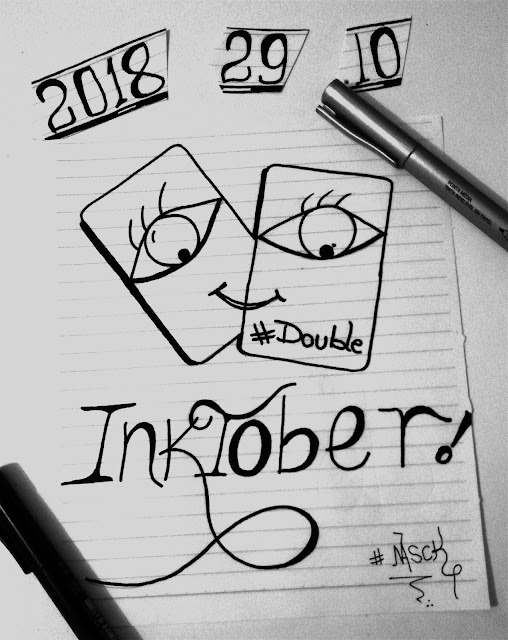 Inktober 2018 dia 29 double-dobro-dupla