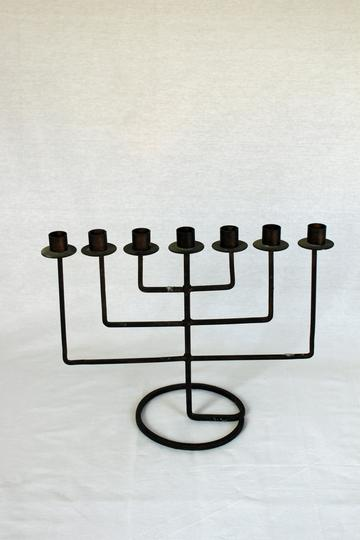 A vintage menorah with modern shape - Hebrew gift ideas | Land of Honey