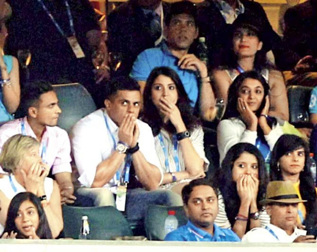 Anushka's reaction mirrored that of the nation - despair.