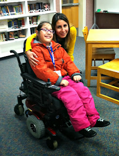 Selena Perez in her new power wheelchair.
