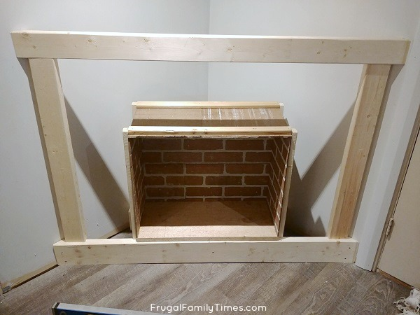 How To Build A Faux Fireplace In A Corner With German