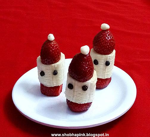 Healthy Santa Hats
