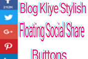 Floating Social Share Buttons For Blog