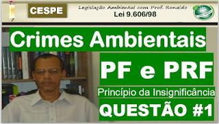 Concurso PF e PRF Correção de Questões de Crimes Ambientais