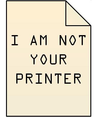 Dynamoo's Blog: Printer Spam