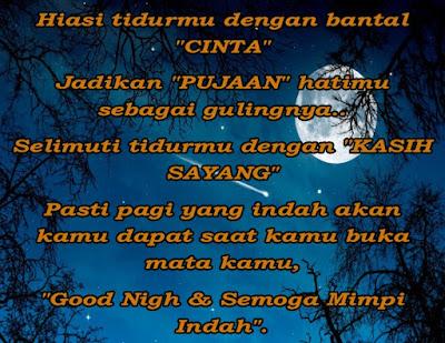 Kata Kata Ucapan Selamat Malam Mesrah, Romantis & Pengantar Tidur