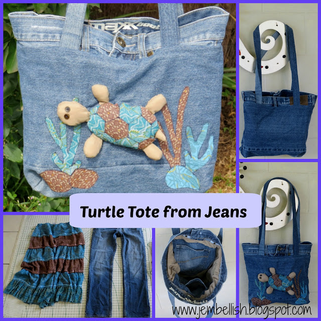 Turtle Tote from Jeans