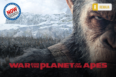 Film WAR FOR THE PLANET OF THE APES Bioskop