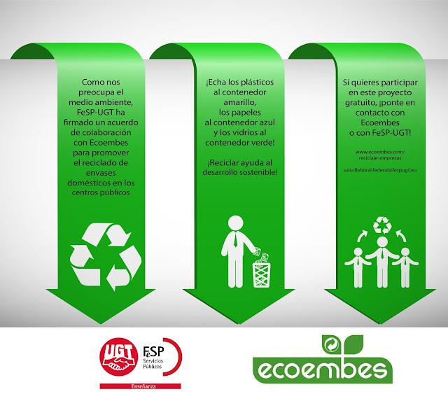 Enseñanza UGT, Reciclado de envases domésticos, Ecoembes, Blog Enseñanza UGT Ceuta