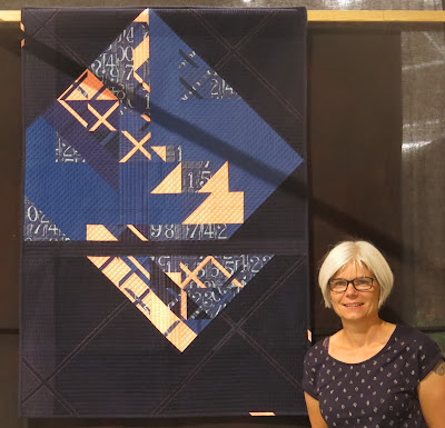 Luna Lovequilts - My Eclat quilt at the Festival of Quilts 2018 - Third place in Contemporary category