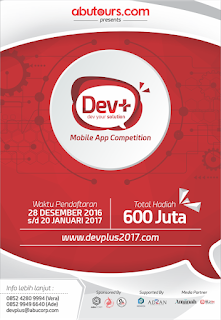 Mobille App Competition 2017, Hadiah 600 Jt