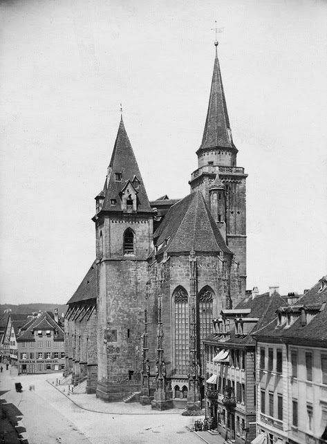 St. Johannis Church in Ansbach, Bavaria, Germany, photographer unknown, c. 1890