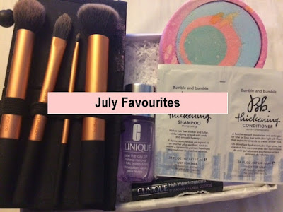 Favourites, Beauty, Lush, Bath Bomb, Clinique, Mascara, Real Techniques, Brushes, MUA, Bumble & Bumble, Hair Care, Make up
