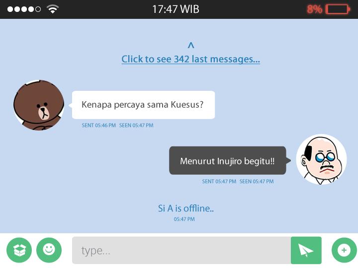 Chatting 3 - Contoh Penggunaan Perasaan