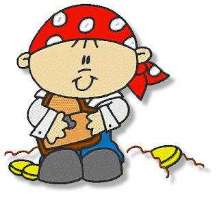 Imágenes Bordadas de Piratas Bebés.