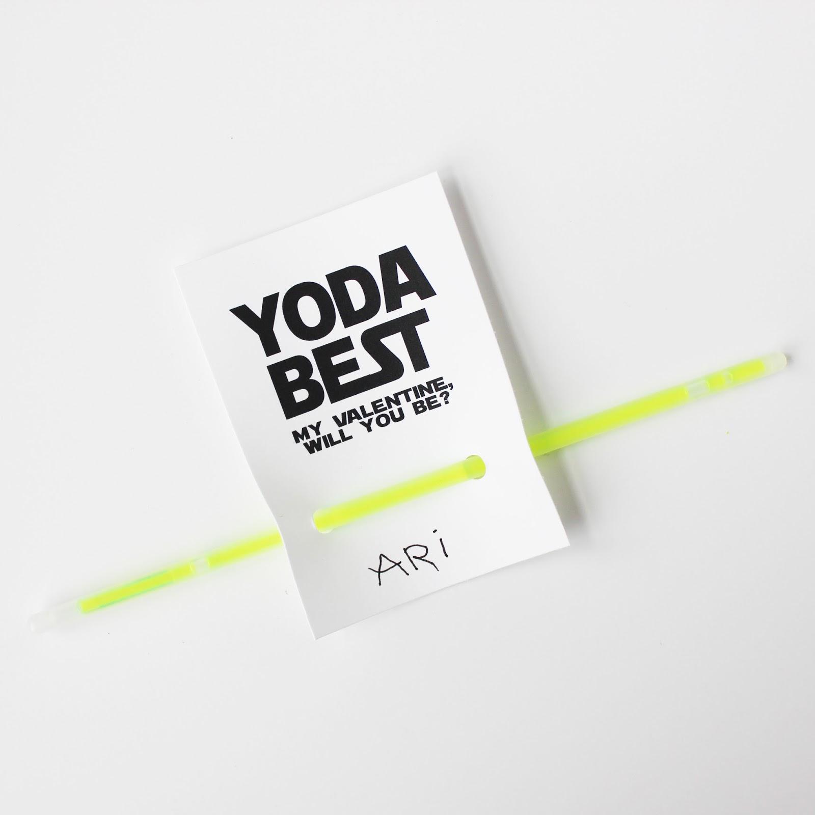 image relating to Yoda Printable called YODA Most straightforward Program VALENTINES (Cost-free PRINTABLE)