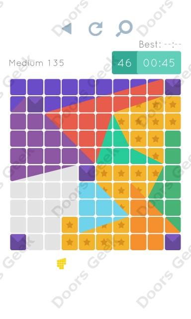 Cheats, Walkthrough for Blocks and Shapes Medium Level 135