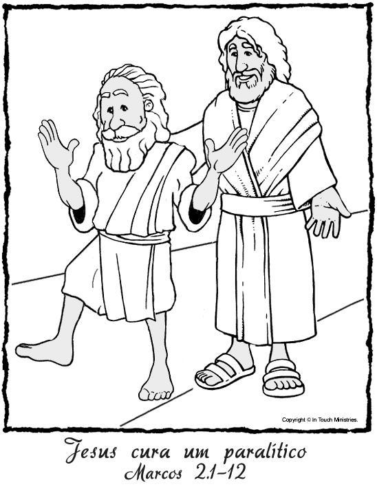 ministerio infantil e juniores: JESUS CURA PARALITICO
