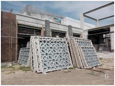 Ornamen Islami Masjid Aluminium