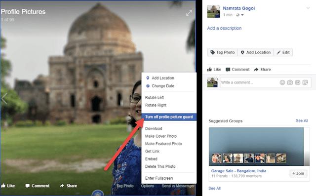 matikan Facebook Profile Guard