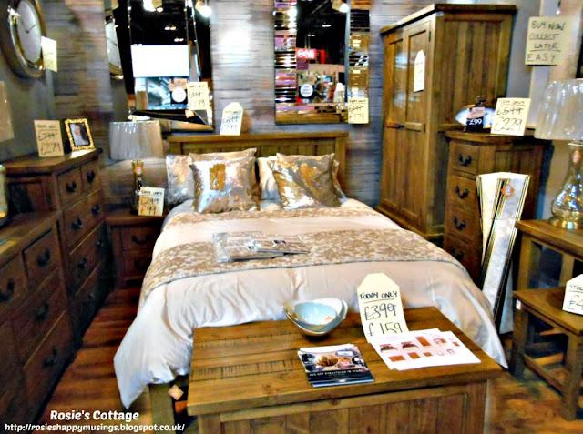 Beautiful wooden bedroom display
