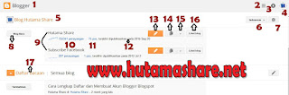 Bagian bagian Blogspot di Halaman Home
