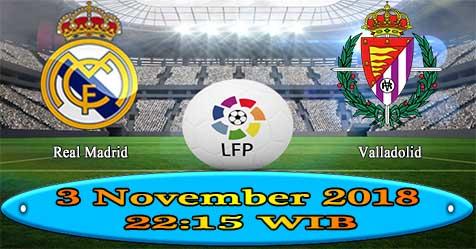 Prediksi Bola855 Real Madrid vs Valladolid 3 November 2018