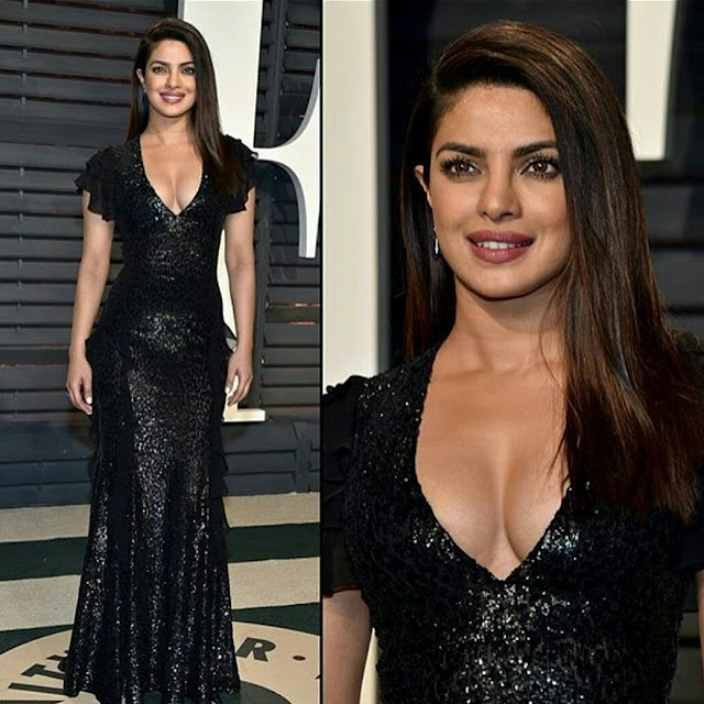 Priyanka Chopra In Michael Kors At Vanity Fair's Oscars after party