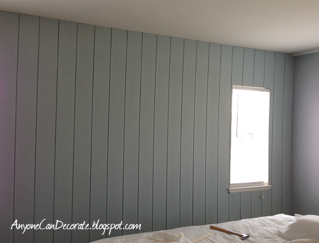 Anyone Can Decorate: DIY'd Wood Panel Wall - Master ...
