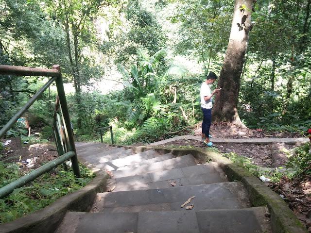 akses jalan menuju air terjun