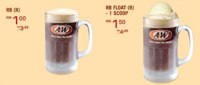 A&W Malaysia Menu Price RB Float