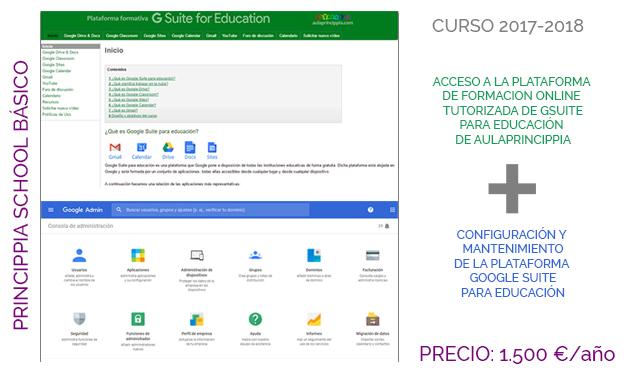 Servicios Princippia Mantenimiento Google Suite para educacion